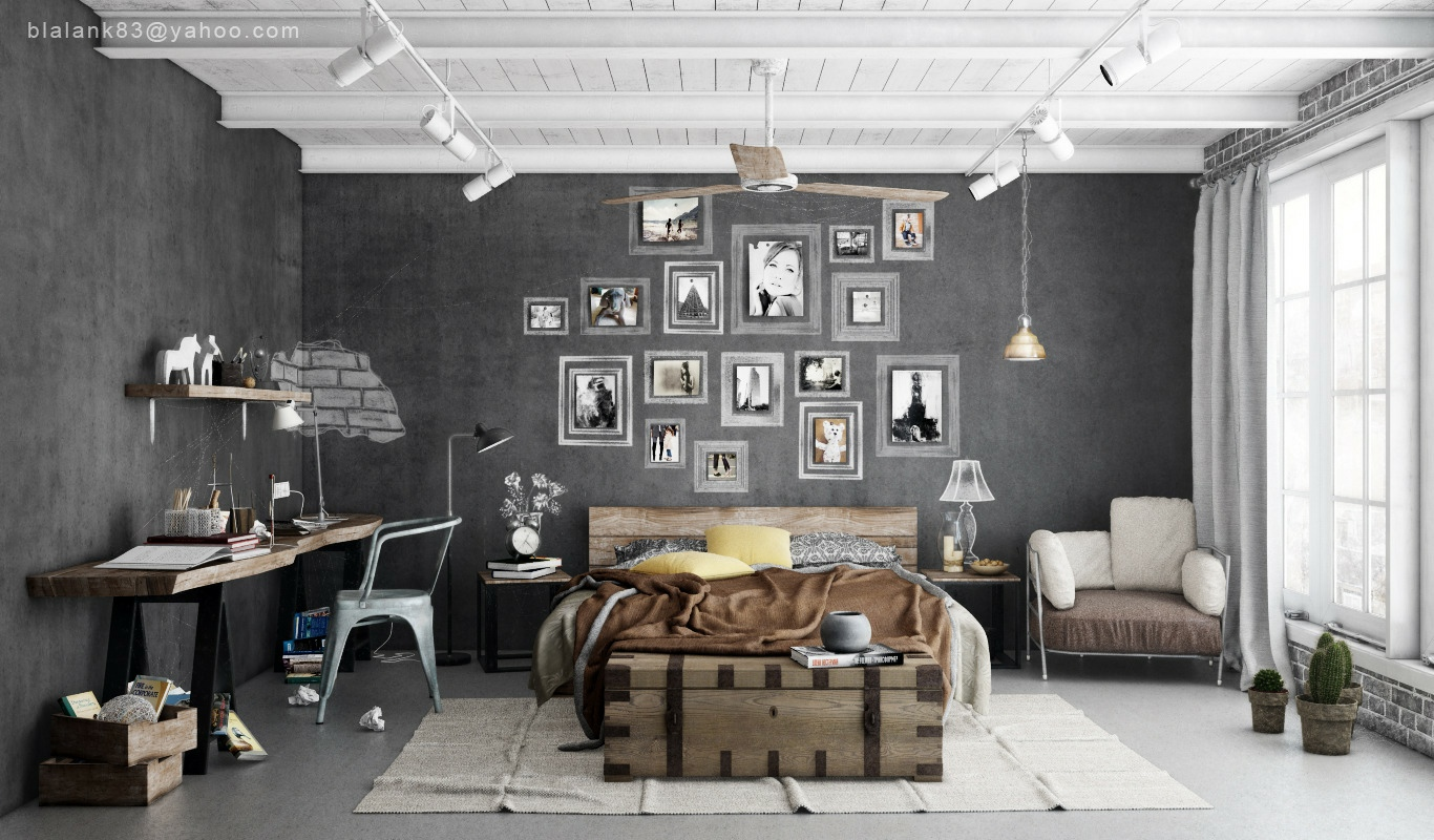 bedroom-cool-bedroom-design-with-cold-and-warm-concept-industrial ...